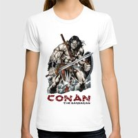 conan T-shirts featuring Conan by CromMorc
