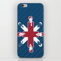 misfits iPhone & iPod Skins featuring [ Fandom ] Sherlock Harry Potter Merlin Doctor Who Bond Life on Mars Cornetto Trilogy Misfits by Vyles