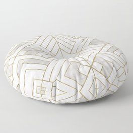 Lennox Vintage Deco - White & Gold Floor Pillow