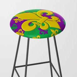 Mardi Gras Fleur-de-Lis Pattern Bar Stool