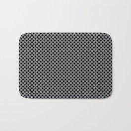 Sharkskin and Black Polka Dots Bath Mat