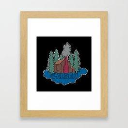 Walden - Henry David Thoreau (Coloured textured version) #society6 #decor #buyart Framed Art Print
