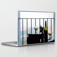 spain Laptop & iPad Skins featuring Spain View by Josephine Benevento-Johnston