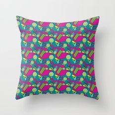 Groovy Teal Flamingos Throw Pillow