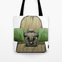 1975 Tote Bags featuring Skate 1975 by Mark Matlock