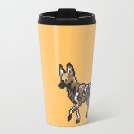 8-bit African Wild Dog Travel Mug