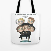 cyrilliart Tote Bags featuring One Chair by Cyrilliart