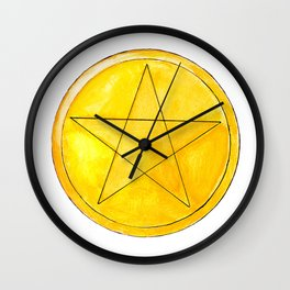 Just Pentacles Wall Clock