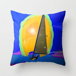 Above the waves in May - shoes stories Throw Pillow