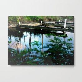 Old dock Metal Print