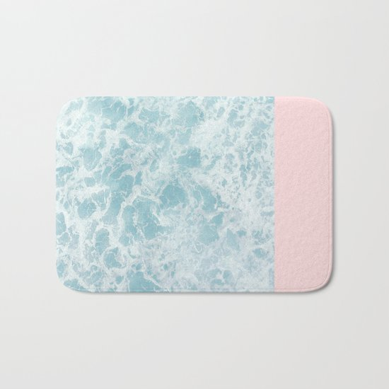 Pink on the Sea Bath Mat
