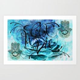 Turquoise Hamsa Art Print