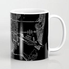 Miami Black Map Coffee Mug