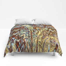 Scramble - Digital Abstract Expressionism Comforters