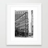 building Framed Art Prints featuring BUILDING by Stephanie Michelle