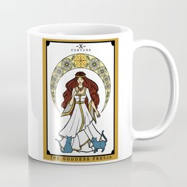 The Norse Goddess Freyja Tarot Card Coffee Mug