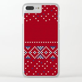 Pattern in Grandma Style #64 Clear iPhone Case