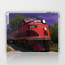 Rock Island Rocket Streamliner Passenger Train in Night Thunderstorm Laptop & iPad Skin