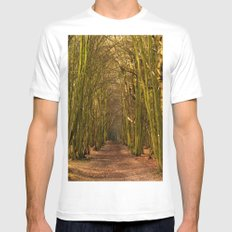 Mysterious Path Mens Fitted Tee White MEDIUM