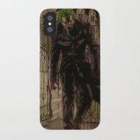 joker iPhone & iPod Cases featuring joker by DeMoose_Art