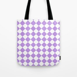 Diamonds - White and Light Violet Tote Bag