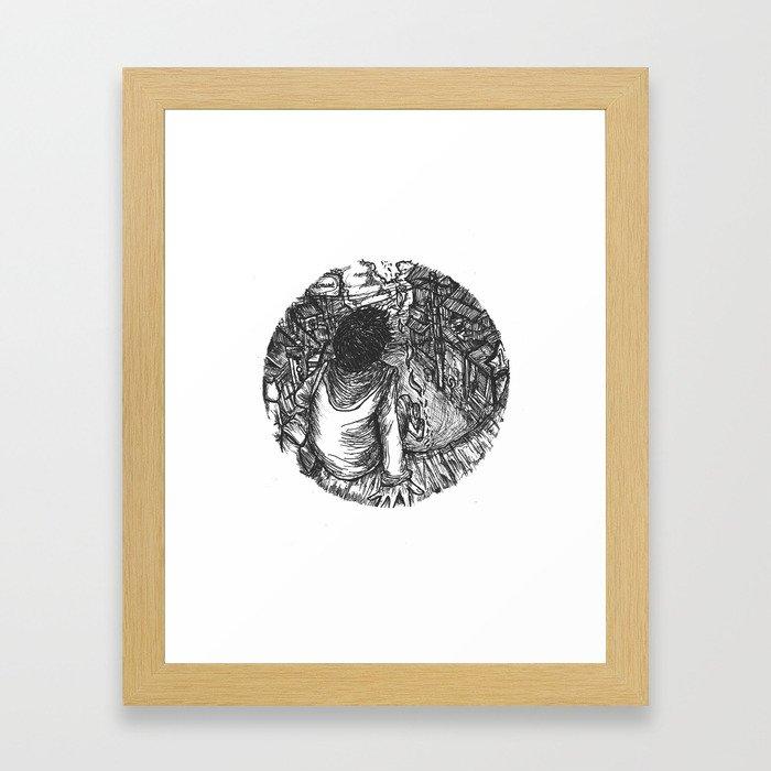 I'll Wait For You To Comeback Home Framed Art Print