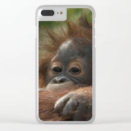 Baby Orangutan Clear iPhone Case