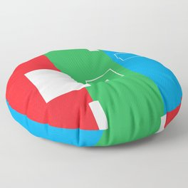 Simple Color Primary Colors Floor Pillow