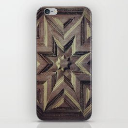Woodcarved star iPhone Skin