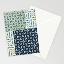 Vintage Tiles #society6 #pattern #indigo Stationery Cards