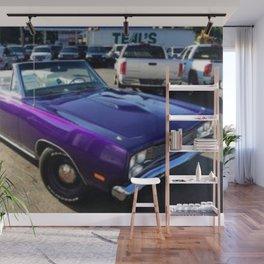 1969 Plum Crazy Purple Coronet Convertible RT Wall Mural