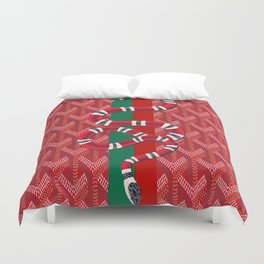 Goyard Red snake Duvet Cover