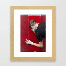 Red Graffiti Framed Art Print