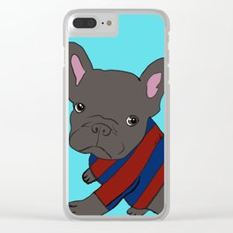 French Bull Dog Puppy in a Sweater Clear iPhone Case