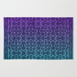 Pixel Patterns Green/Purple Rug