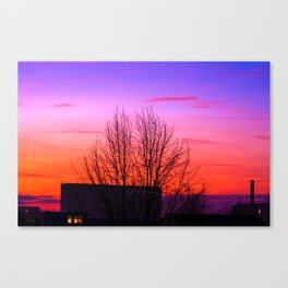 Concept landscape : city sunset Canvas Print