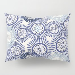 Indigo Blues Geometric Circles Pillow Sham