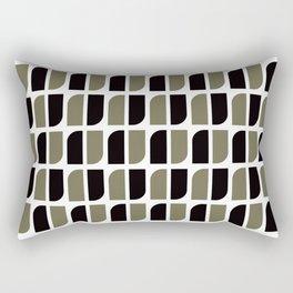 Geometric Pattern #41 (black gray) Rectangular Pillow
