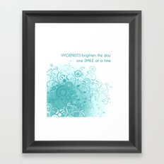 HYGIENISTS brighten the day one SMILE at at time Framed Art Print
