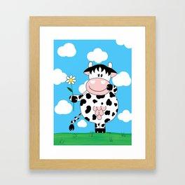 Cow Daisy Framed Art Print