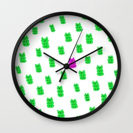 Gummy Bears Apple Flavor Wall Clock