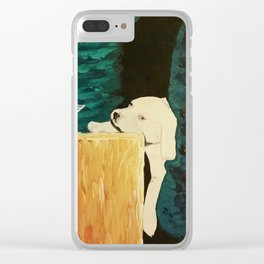 sleepy puppy Clear iPhone Case