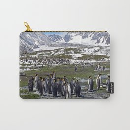 King Penguins, Snow and Glaciers Carry-All Pouch