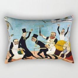 Death Comes (The Bad Doctors) portrait painting by James Ensor Rectangular Pillow