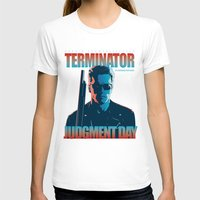 terminator T-shirts featuring Terminator 2 - Alternative Poster by Lorenzo Imperato