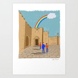 Jaffa gate Jerusalem  Art Print