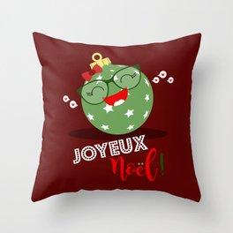 Boule de Noël (verte pastel) Throw Pillow