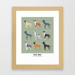 Great Danes Framed Art Print