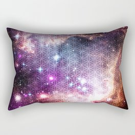 Sacred Nebula Flower Of Life Rectangular Pillow