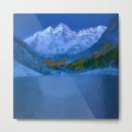 Maroon Bells Early Morning Abstract Metal Print